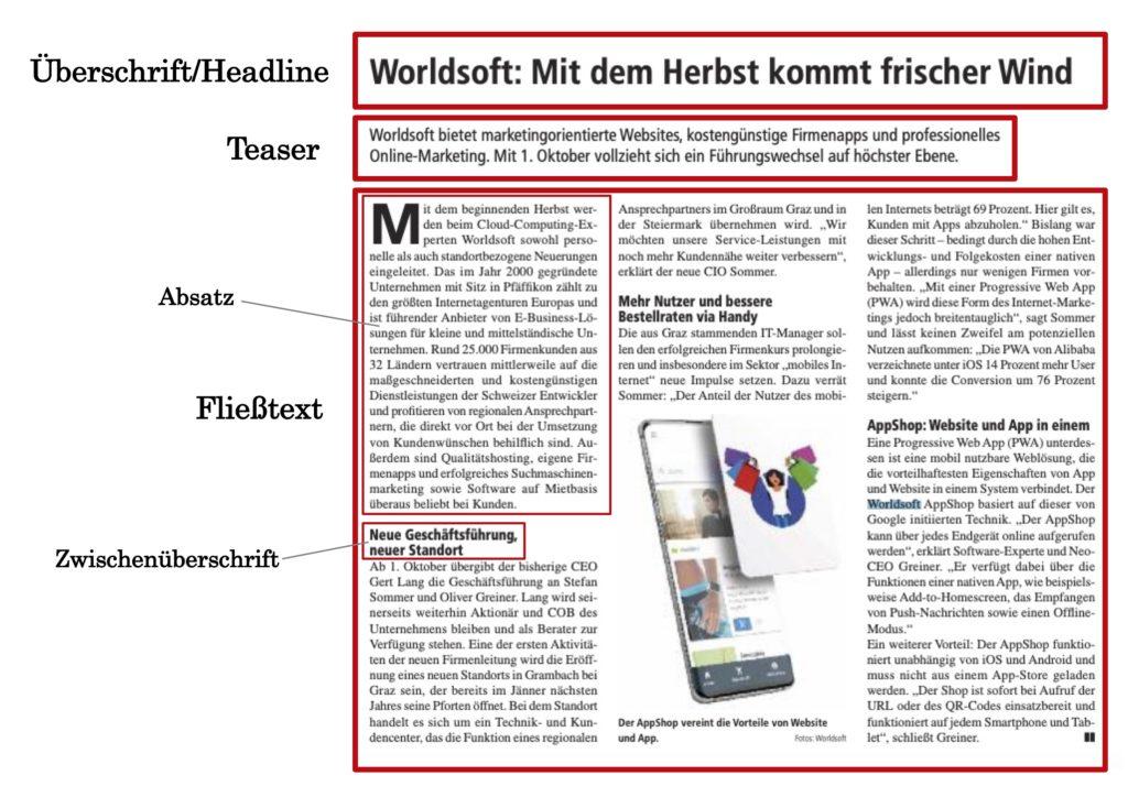 Pressetext Aufbau Wie ist eine Pressemitteilung aufgebaut