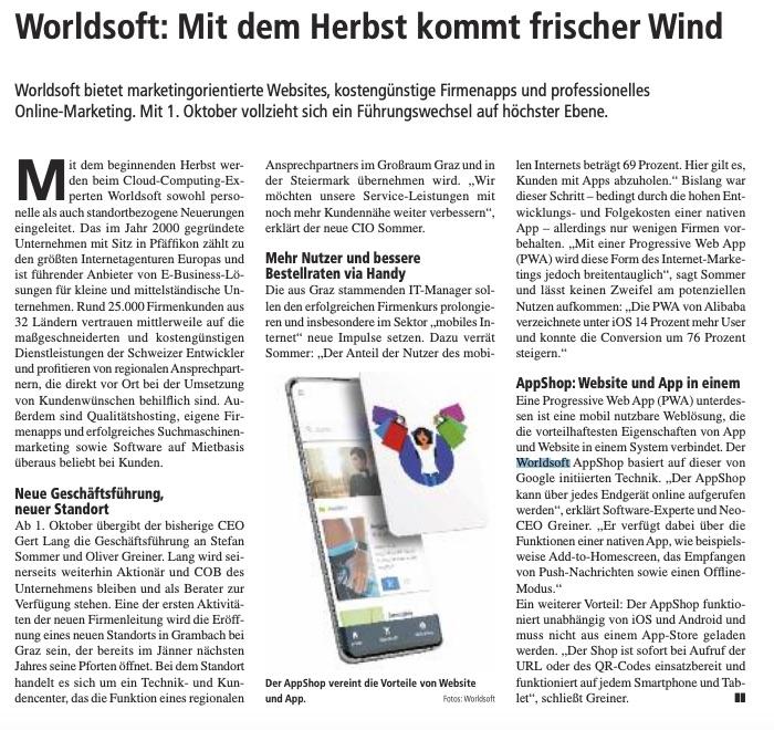 Pressetext schreiben verfassen Pressetexte schreiben verfassen - Beispiel 1, Wirtschaftsnachrichten Süd West Donauraum