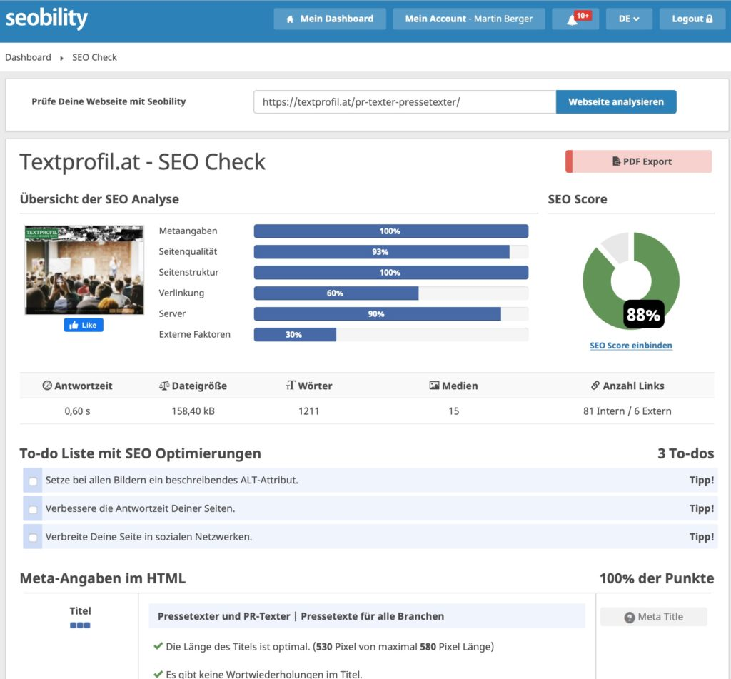 Seo Texte schreiben Tools Seobility